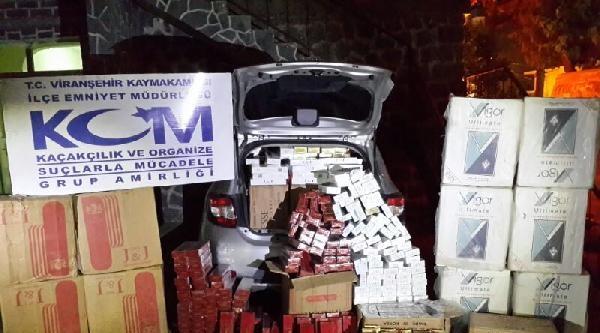 Viranşehir'de 18 Bin Paket Kaçak Sigara Ele Geçirildi