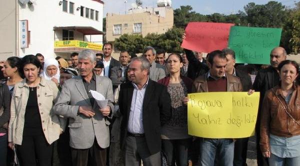 Viranşehir'de Bdp'den Protesto Eylemi