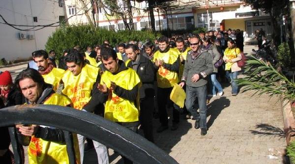 Viranşehir'de Kesk Üyelerinden Protesto Eylemi