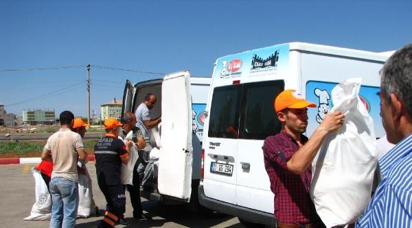 Viranşehir'deki Ezidi'lere Afad'dan Gıda Yardımı