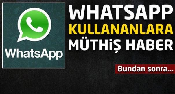 Whatsapp kullananlara müthiş haber! Bundan sonra...
