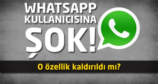 WhatsApp kullanıcısına şok!