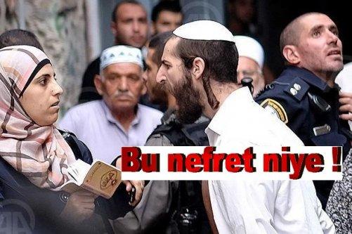 Yahudi adamdan Filistinli kadında nefret dolu tepki