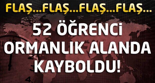 Yalova'da 52 öğrenci ormanlık alanda kayboldu!