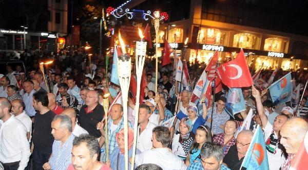 Yalova'da Erdoğan'a Destek Yürüyüşü