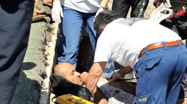 Yamaç Paraşütüyle Kalkış Yaparken Düşüp Yaralandı