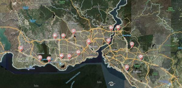Yapılan Kaza İhbarlari İle İstanbul'daki Kırmızı Noktalı Yolları Belirlediler
