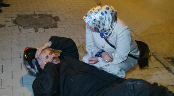 Yaralı Eşinin Başından Bir An Olsun Ayrılmadı
