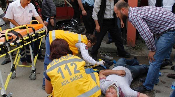 Yaralı Sürücü Ambulans Beklerken Motosikletini Sordu