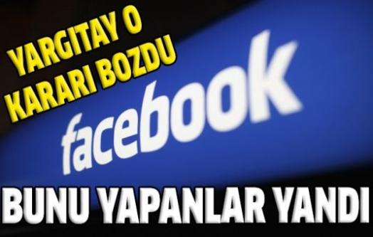 Yargıtay'dan önemli Facebook kararı!
