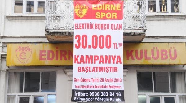 Yarim Asirlik Kulüpten Elektrik Borcu Için Yardim Çağrisi