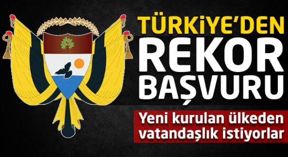 Yeni kurulan ülkeye Türkiye'den rekor başvuru!