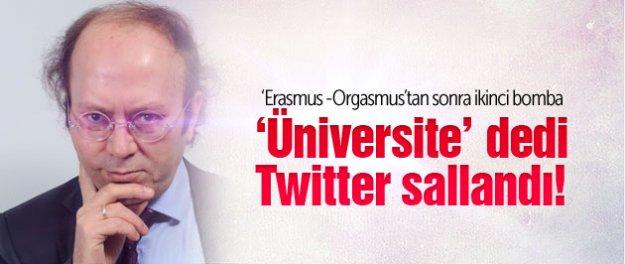 Yeni Şafak yazarının 'üniversite' tweetine tepki yağdı!