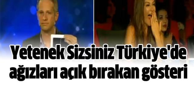 Yetenek Sizsiniz Türkiye'de ağızları açık bırakan iPad gösterisi
