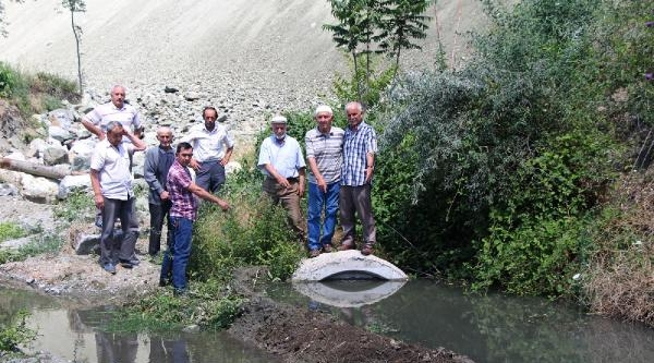 Yht Çalişmalari Sulama Kanallarını Tahrip Etti