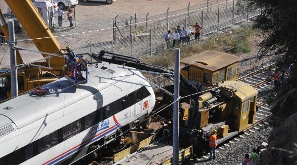 Yht'nin Test Sürüşü Sırasında Kaza - Fotoğraflı