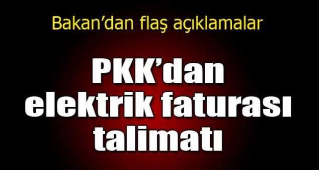 Yıldız: PKK'nın faturaları ödemeyin dediğini biliyoruz
