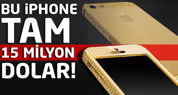 Yok artık! Bu iphone tam 15 Milyon dolar...