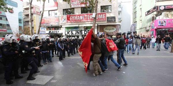Yök'ü Protesto Eden Gruba Polis Müdahalesi