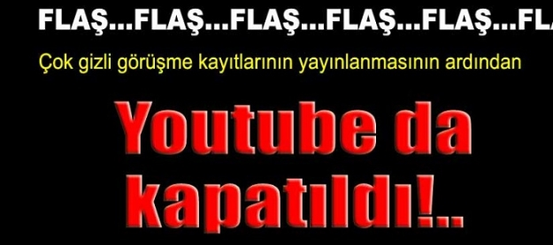 Youtube'a erişim engellendi!