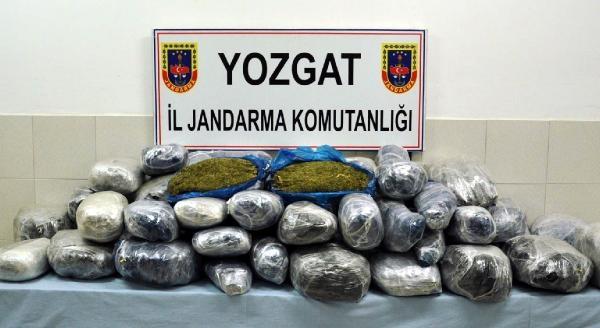 Yozgat'ta Otomobilde 115 Kilo Esrar