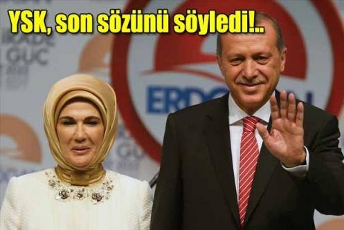 YSK, Erdoğan başvurularını reddetti