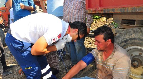 Yüksek Gerilim Hattına Takılan Biçerdöverin Operatörü Öldü
