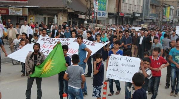 Yüksekova'da Lice Protestosu
