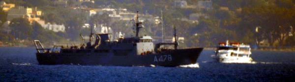 Yunan Sahil Güvenliğinden Türk Gemilerine Taciz