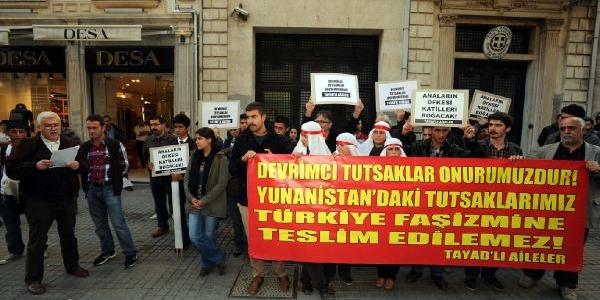 Yunanistan Konsolosluğu Önünde Protesto