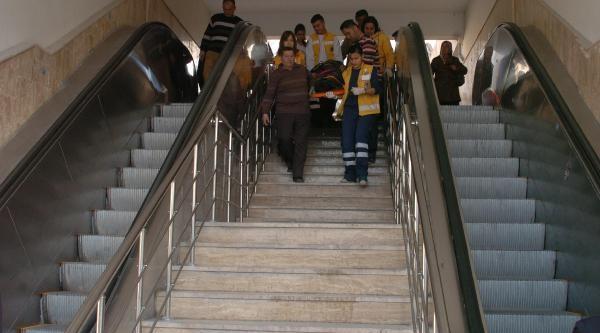 Yürüyen Merdivenden Yuvarlandi