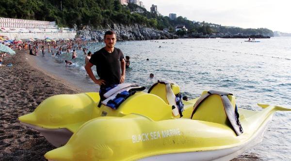 Zonguldak Kapuz Plajı'nda Deniz Bisikletleri Kaldırıldı