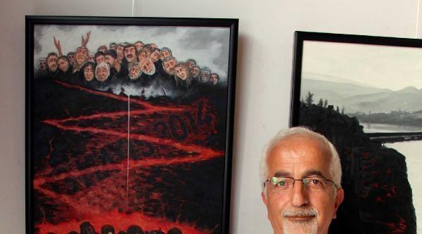 Zonguldaklı Ressam Soma'daki Acının Resmini Yaptı