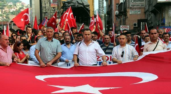 Zonguldak'ta Bayrak Protestosu
