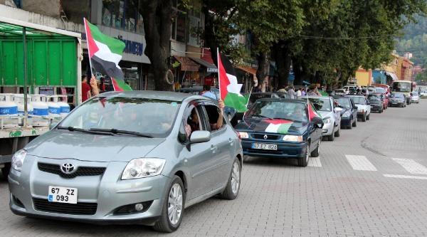 Zonguldak'ta Gazze'ye Destek Konvoyu