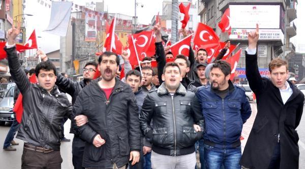 Zonguldak'ta Hdp'yi Protesto Yürüyüşü