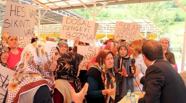 Zonguldak'ta Hes Toplantısı Tepkiler Üzerine Yapılamadı