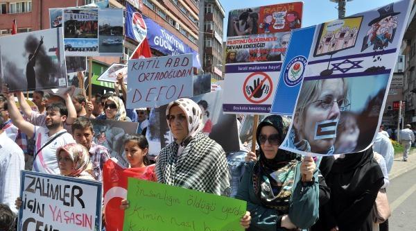 Zonguldak'ta İsrail Protestosu