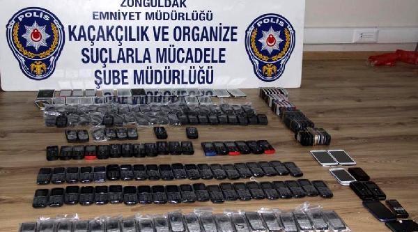 Zonguldak'ta Kaçak Cep Telefonu Operasyonu
