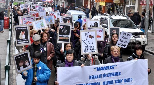 Zonguldak'ta Kadına Şiddet Prostestosu