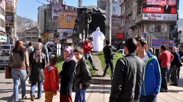 Zonguldak'ta Kefenli Eylem