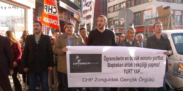 Zonguldak'ta, 'öğrenci Evleri' Protestosu