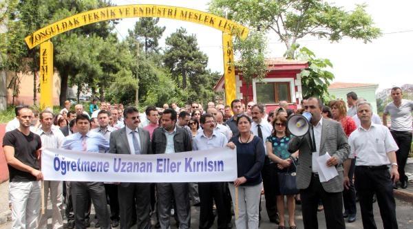 Zonguldak'ta Öğretmenler, Kayseri'deki Saldırıyı Kınadı