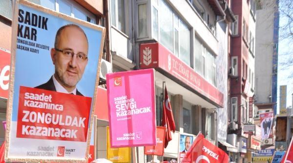 Zonguldak'ta Saadet Partisi'nden Sevgi Yürüyüşü