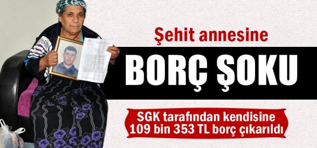 Zonguldak'ta şehit annesine borç şoku