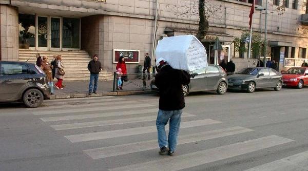 Zonguldak'ta Tabutlu Eylem