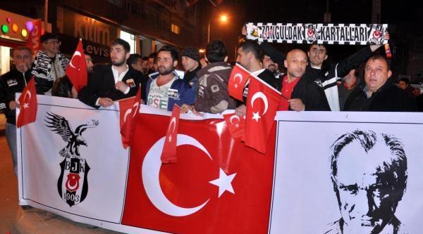 Zonguldak'ta Taraftarlar Yürüdü