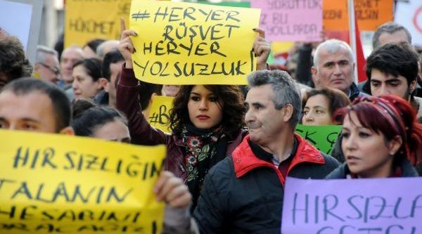 Zonguldak'ta Yolsuzluk Ve Rüşveti Protesto Eylemi