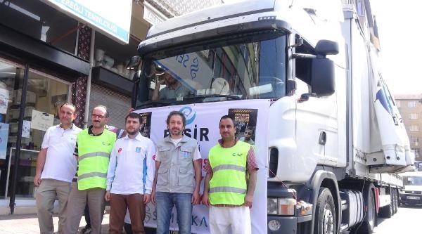 Zonguldak'tan Suriye'ye Yardım Tırı Yola Çikti