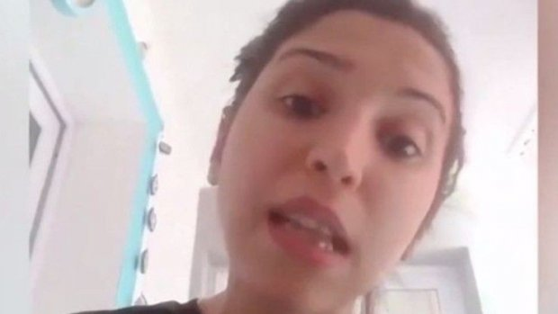 Bin lira yardım talebi reddedilen kadın video çekti